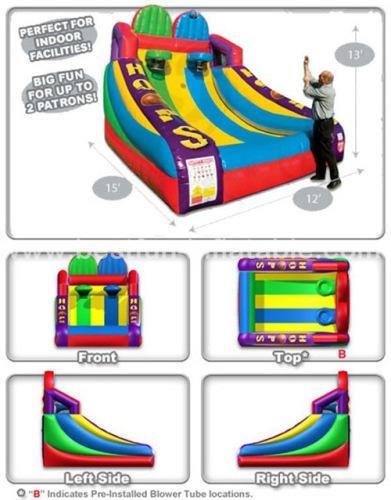 Inflatable basketball hoop shoot game