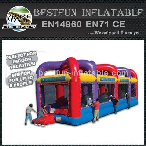 Inflatable boulder run dash sports equipment