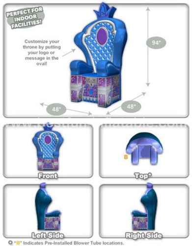 Air Unsealed PVC Inflatable Throne