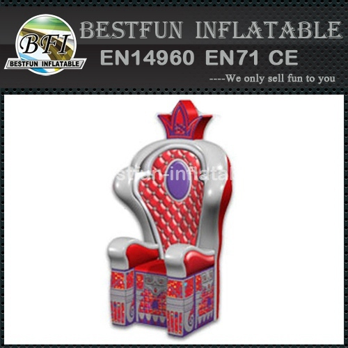 Advertising inflatable throne chair