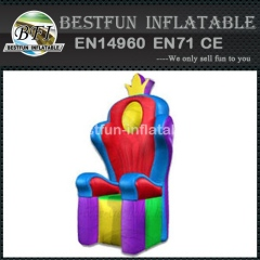 King and queen inflatable throne