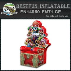 Inflatable throne chair for children birthday