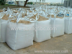 top open bottom flat FIBC big bag for sand packing