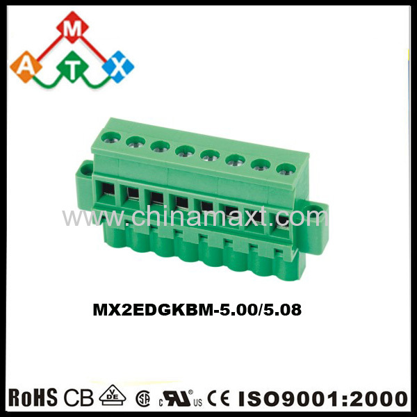 180 degree 5 0/5 08mm pitch PCB terminal block connectors with