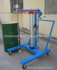 Air pneumatic lifting mixer/disperser
