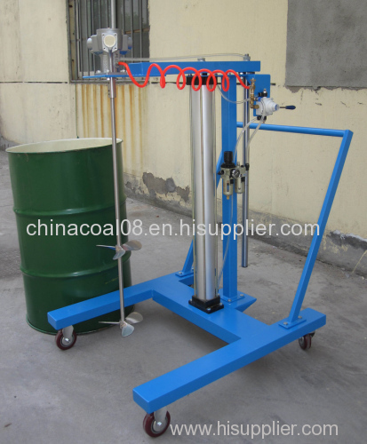 Air pneumatic lifting mixer/disperser
