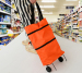 Multi functional Roller shopping bag foldable and stretchable
