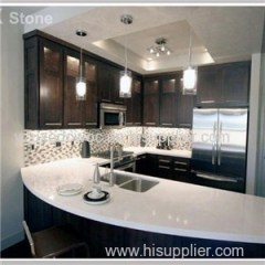 Crystal White Quartz Countertop Kitchen Top