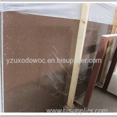 Sparkle Brown Quartz Stone Countertop Slab