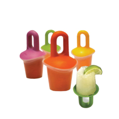 4pcs baby popsicle molds with different colors