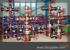 Oil production wellhead X-tree