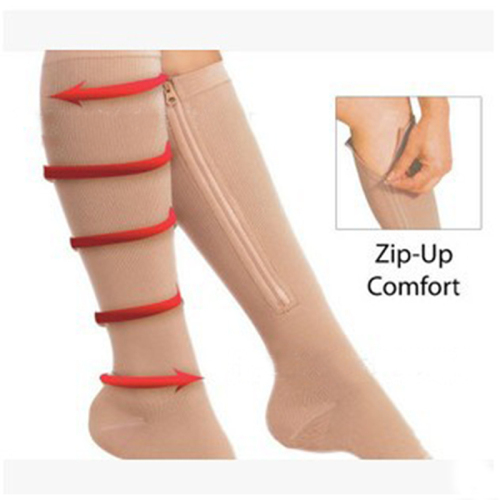 compression socks zip for promoting blood circulation