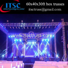 60x40x30ft box trusses with 6 pillars in India market
