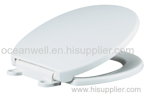 "American standard size 17"" PP Plastic Toilet Seat Cover with Plastic Soft Close Hinge for WC"