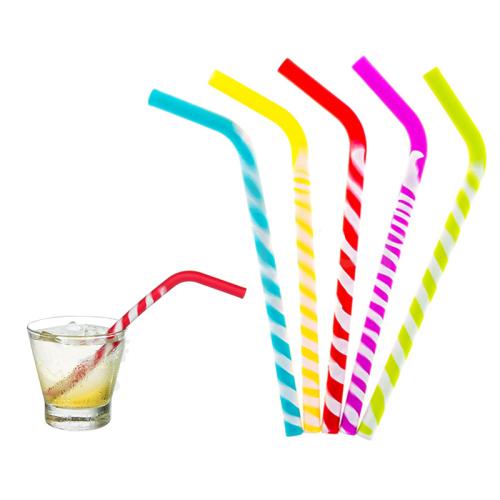 Flexible Silicone Reusable Drinking Straws