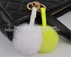 rabbit fur pom pom faux fur ball keychain felt ball fur scarf