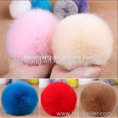 faux fur ball keychain fur pom pom real fox mink rabbit fur pom pom