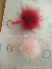 real fur keychain fur ball accessory fur pom pom faux ball felt ball
