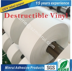 China top factory of security label paper roll for tamper evident warranty screw vinyl sticker of repairing QC passed