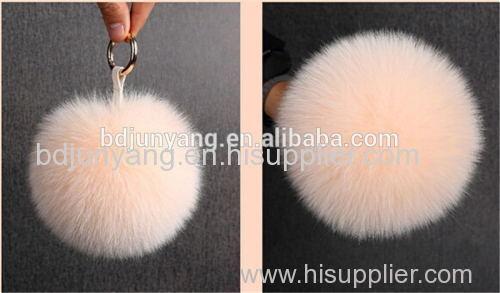 rabbit mink raccoon fox fur pom fur ball keychain faux ball for beanie hat