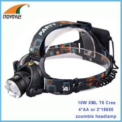 10W Cree XML T6 LED headlamp 4AA aluminum body headlight 800Lumen super bright fishing lamp camping lantern