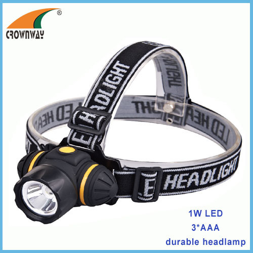 1W LED 80Lumen headlamp light weight headlight outdoor emergency light camping lantern fishing lamp 3*AAA battery