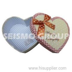 Printed Paper Heart Shape Box