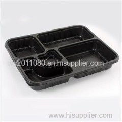 Compartments Disposable Plastic Food Box