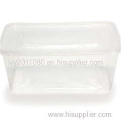 Clear Disposable Plastic Food Box