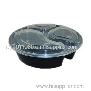 Round Disposable Plastic Food Box