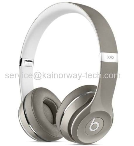 Beats by Dre Solo2 Silver Luxe Edition On-Ear Wired Headphones from China manufacturer