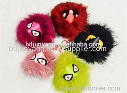 Customize monster fur keychain handmade monster pendant fur monster face