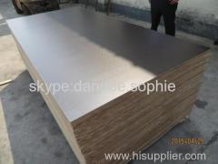 FILM FACED PLYWOOD.ONE SIDE ANTI SLIP (HEXAGONAL PATTERN DESIGN)WBP PHENOLIC GLUE BROWN FILM
