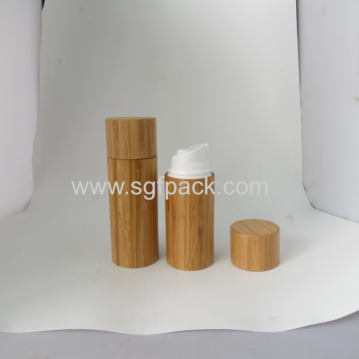 As Plastic Airless Bottle Bamboo Packaging Transparent