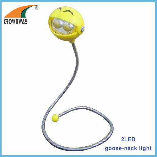 2LED gooseneck reading lamp flexible table lamp indoor light 2*CR2032 battery book lamp