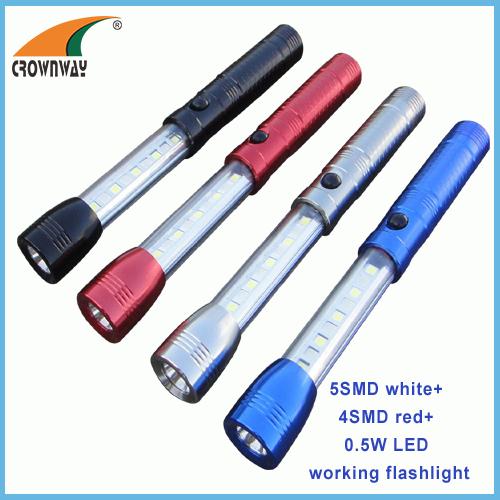SMD high power work light red SMD warning camping lantern 50Lumen powerful multifunctional hand torch magnet work light