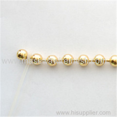 golden metal beaded straight