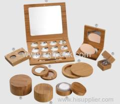 eye compact/eye shadow/loose powder/bamboo container