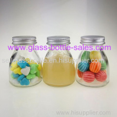 100ml New Desgin Clear Glass Juice Bottle With Silver Lid