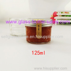125ml Glass Jam Jar With Silver Lid