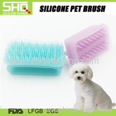 Popular unique soft grooming silicone rubber pet brush as seen on tv