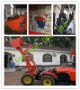 4.China Tractor wheel loaders ZL-904 with 300kg rated load