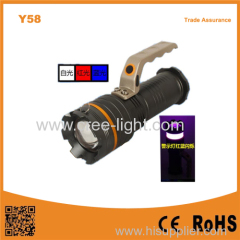 Y58 outdoor warning lights 3 lights multi-function strong light portable flashlight