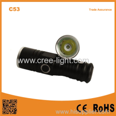 C53 XPE R2 led light small pocket led mini flashlight with clip tactical flashlight