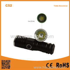 C52 Camping Mini Pocket Outdoor Aluminum Survival Cheap light WITH POCKEET CLIP flashlight torch