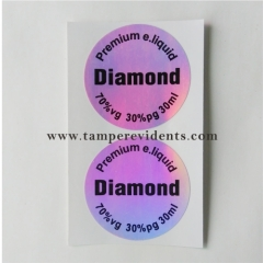 China factory Hologram tamper evident self adhesive warranty security label