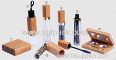 eco-friendly wooden bamboo make-up line
