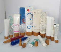 eco-friendly wooden bamboo cosmetic packaging plastic tube for cosmetics packaging