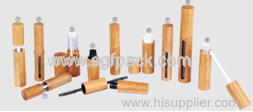 BAMBOO PACKAGING MAKEUP SERIES LIP GROSS LIP STICK MASCARA EYELINER LIP BALM