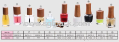 eco-friendly wooden bamboo cosmetic packaging NAIL polish GLASS BOTTLE